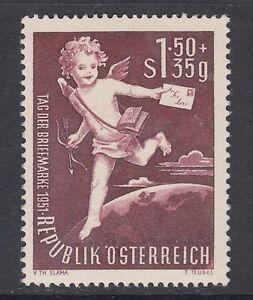 Austria-Sc-B278-MNH-1952-Stamp-Day-F-VF-Cupid