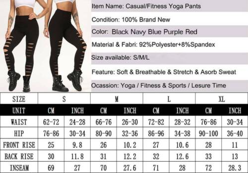 ❤Yoga Pants Leggings Running Gym Sports Tummy Control High Waist Fitness Ladies❤