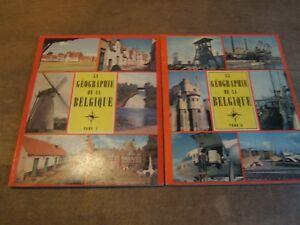 2 Album chromos édité par timbre tintin complet la géographie de la Belgique1-2