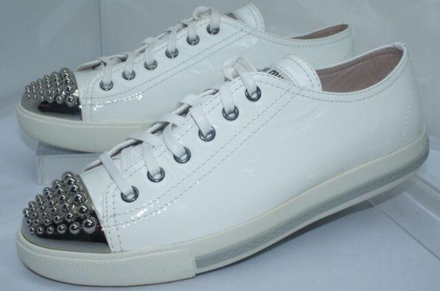 0b0ce43dbcce New Miu Miu Women s Tennis Shoes Fashion Sneakers White Size 39 Calzature  Sale