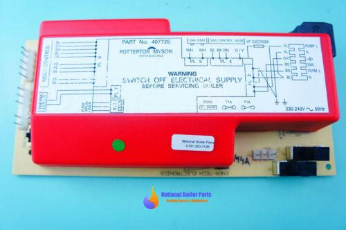 27 20215-01 voir liste ci-dessous Potterton housewarmer contrôle principal PCB 407725