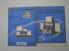 advertising Pubblicità 1959 GELOSO RADIO TELEVISORE