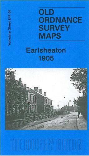 OLD ORDNANCE SURVEY MAP EARLSHEATON 1905 CHICKENLEY GAWTHORPE OSSETT STREET