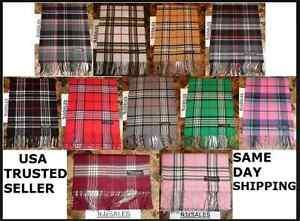 72X12-LONG-CASHMERE-WINTER-SCARF-Tartan-Nova-Check-Plaid-Scotland-Soft-WARM-Wool