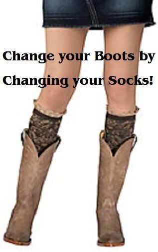 Blazin Roxx Women's ~ BOOT SOXX ~ Over the Knee - PAISLEY Socks Cowgirl 04980