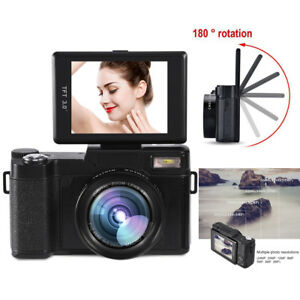 "3"" TFT LCD Rotatable Screen 4X Digital Zoom Camera HD 1080P 24MP Video Camcorder"