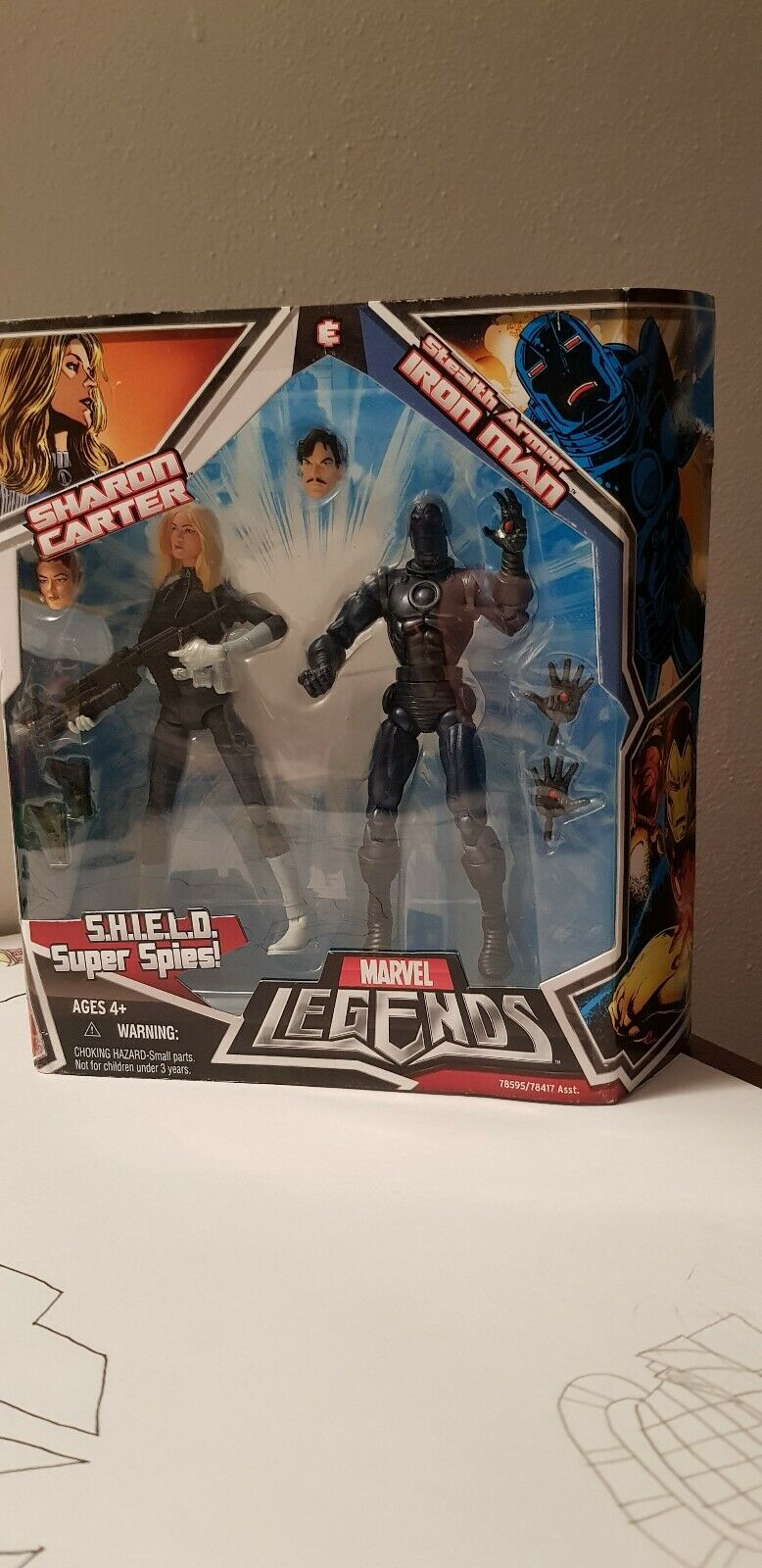 MARVEL LEGENDS shield iron man stealth armor sharon Carter super super super spies hasbro to fd1410