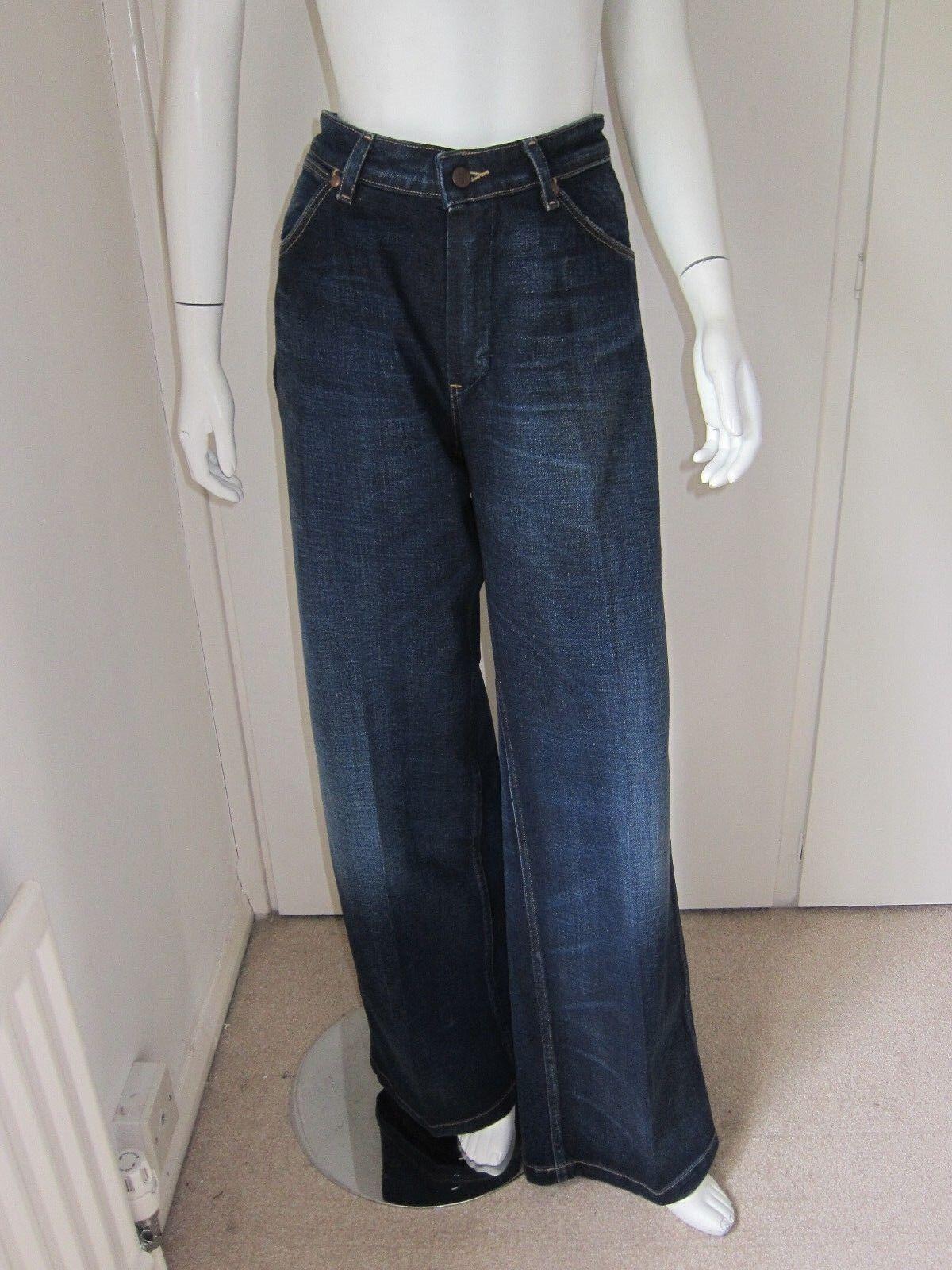 WRANGLER Donna Regal blu BELLA cotone TRAPEZIO Gamba Jeans W 31 L 34 Nuovo di Zecca