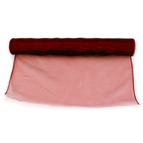 Organza draping fabric roll 40cmx 9m Oasis Burgundy Red