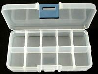 10 Compartment Organiser Box size approx 13cm long, 7cm wide, 2.3cm high