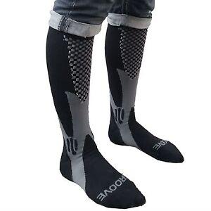 Compression Socks for Men Women 15-20 mmhg Running Knee High Black