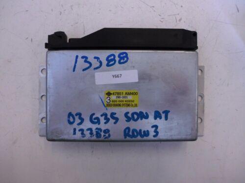 INFINITI OEM ABS ANTI-LOCK CONTROL MODULE UNIT 47851 AM400NISSAN
