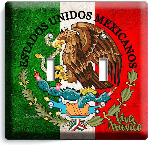 Rustic Mexican Flag Eagle Viva Mexico Light Switch 2 Gang Wall Plates Room Decor Ebay