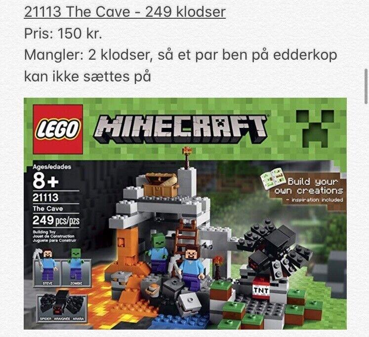 Lego Minecraft, 21113, 21119 og 21121