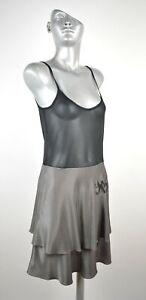 3136-COP-COPINE-Sheer-Mesh-Top-Mini-Party-Dress-Shiny-Tunic-Sz-1-S-UK-8
