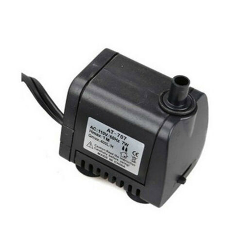 Fish Tank Submersible Water Pump for Distiller 105GPH 400L//H 7W Pond Aquarium