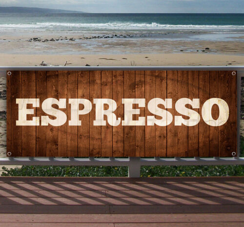 ESPRESSO Advertising Vinyl Banner Flag Sign Many Sizes Available USA