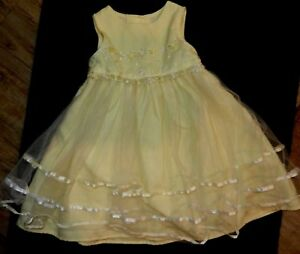 preowned-BonnieJean-dress-empirewaist-w-embellished-daisies-tulle-overlay-skirt