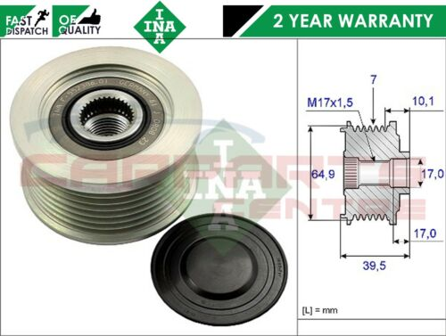 FOR NISSAN MURANO CABSTAR NAVARA PATHFINDER 2.5 YD25DDT INA ALTERNATOR PULLEY