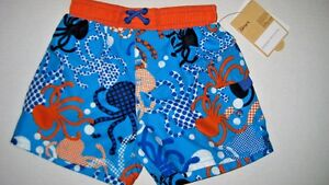 Infant Baby Boy Size 12 Months Carter's Blue & Orange Octopus Swimsuit NEW