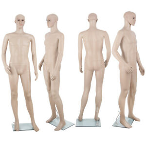 186cm Male Full Body Mannequin Clothes Display Showcase Commercial Detachable