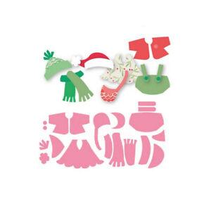 Stanzschablone-Winter-Weihnachten-Kleidung-Anzug-Geburtstag-Hochzeit-Karte-Album