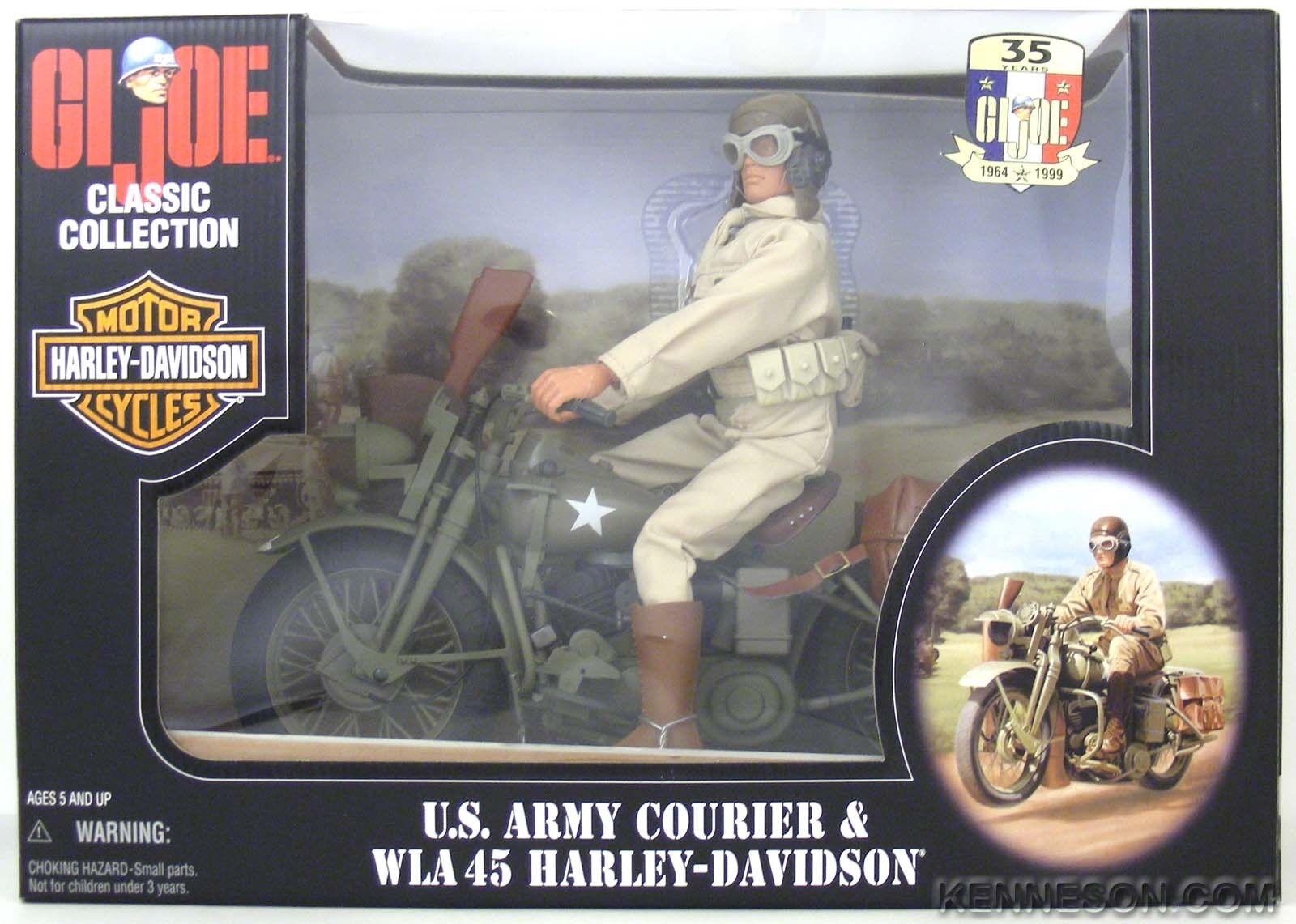 Gi - joe - klassiker der us - armee im kurier - wla 45 harley - davidson motorrad blaue augen