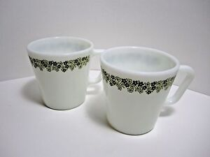 Set of 2 Vintage PYREX Crazy Daisy Spring Blossom Coffee Tea Cups ...