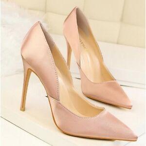 Tacco Pelle Scarpe Cipria 11 Eleganti Donna Decolte Rosa Stiletto 5qA4jR3L