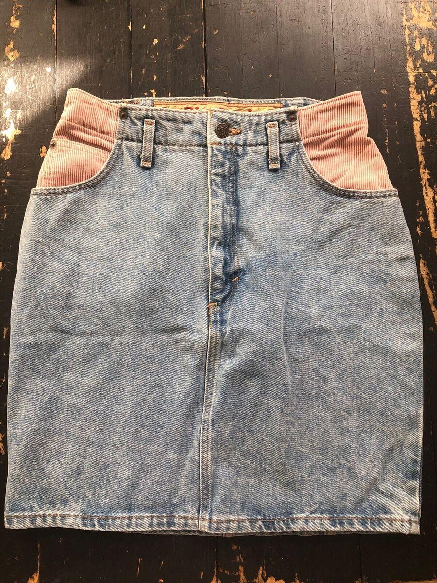 str. 36, Vintage nederdel, Næsten som ny, Super fin vint