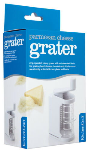 Kitchen Craft Hand Held Rotary Action Parmesan Cheese Grater /& Storer