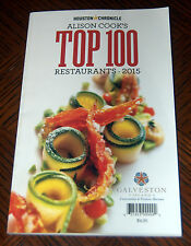 Top 100 Restaurants in Houston for 2015  Paperback Book  NEW  FREE SHIPPING