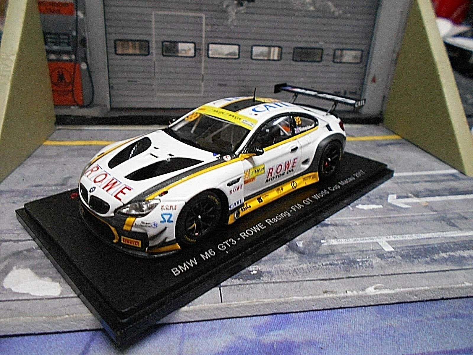 BMW m6 gt3 24h 24h 24h 2017 Macao World Cup  99 Rowe Blomqvist catl NUOVO SPARK 1 43 1cc36c