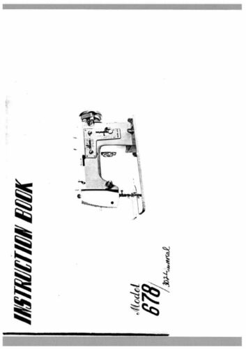 White W678 Sewing MachineEmbroiderySerger Owners Manual