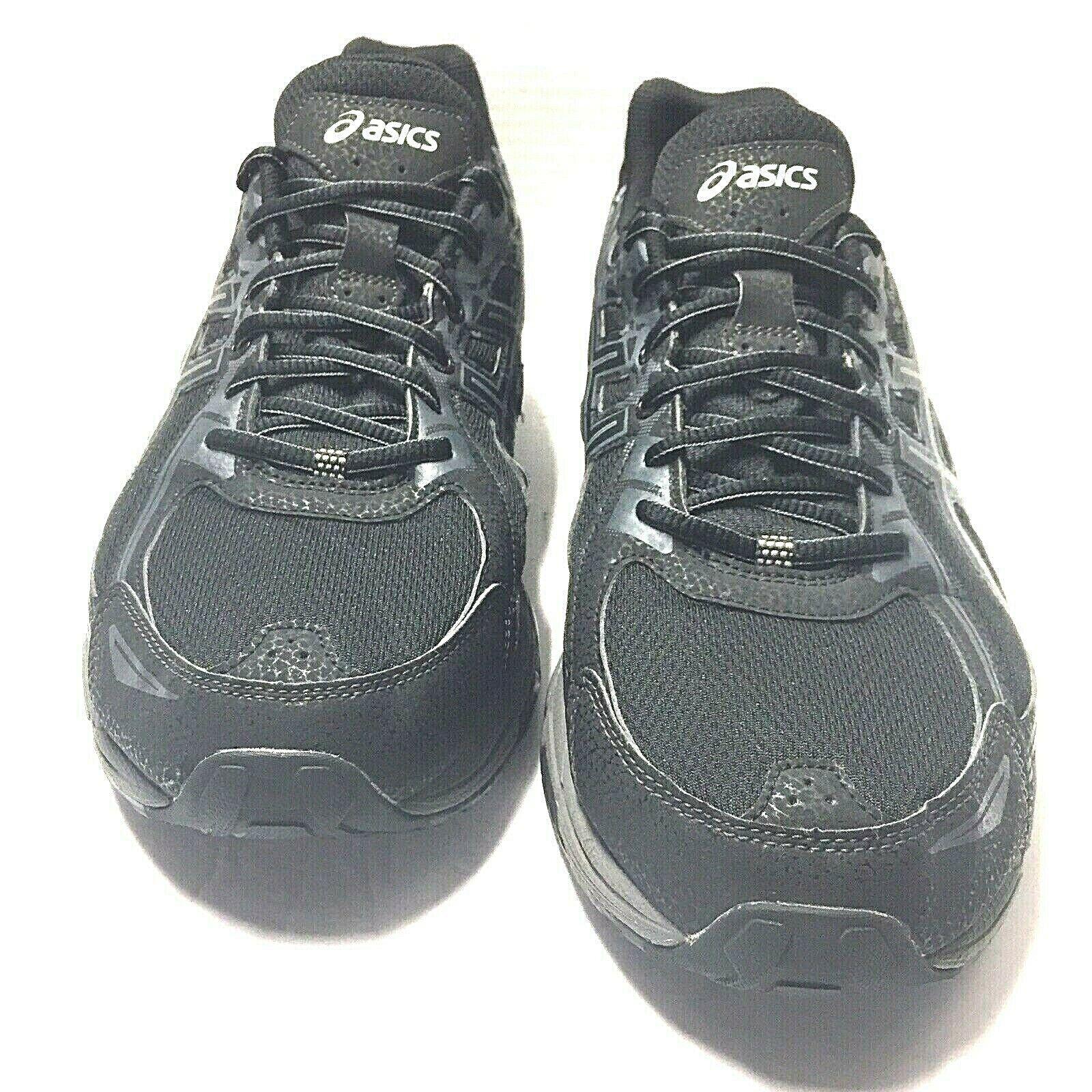 Están familiarizados Apuesta pulgar  Asics Mens Gel-Venture 6 T7G1N Running Walking Shoes Black Gray Size 14 Us  for sale online