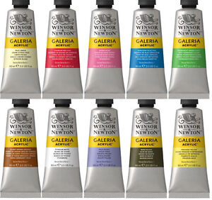 Winsor-amp-Newton-Galeria-Acrylic-Paint-60ml-Tube-All-Colours-Available