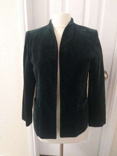 Sasson Vintage Velvet Coat Blazer Size 12. Green