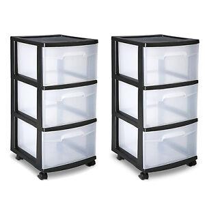 Sterilite 3 Drawer Cart Storage Plastic Box Organizer ...