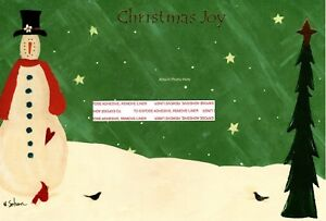 Christmas In Evergreen Tidings Of Joy.Details About Christmas Joy Snowman Winter Scene Evergreen Tree Photo Cards Set Of 22