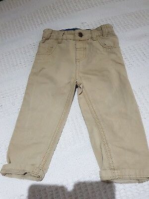 Boys Age 12-18 Months Beige Jeans From Nutmeg To Win A High Admiration And Is Widely Trusted At Home And Abroad. Great Condition