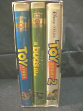 3 PACK SET VHS MOVIES: TOY STORY & TOY STORY #2 PLUS A BUG'S LIFE! DISNEY PIXAR