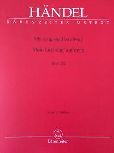 Händel Hwv 252 Ohne RüCkgabe Mein Lied Sing´auf Ewig