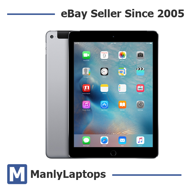 Apple iPad Air 2 64GB, Wi-Fi + Cellular (Unlocked) 9.7in - Space Grey (AU Stock)