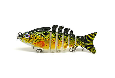 "3.2"" Bass Stirper Fishing Bait Lure Swimbait Multi-jointed Life-like Panfish NEW"