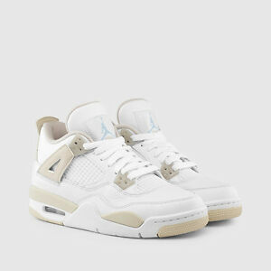 dae71b8f217c AIR JORDAN RETRO 4 PS PRESCHOOL 487725-118 LINEN SAND KHAKI TAN ...