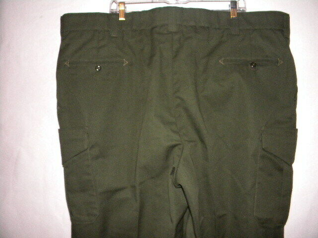 Horace Small NP2240 Mens Cargo Pant Earth Green Trousers 48W x Unhemmed Regular