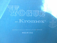 Mod Vintage Vogue By Kromex Chrome Tidbit Tu-tier Tray 863 In Original Box