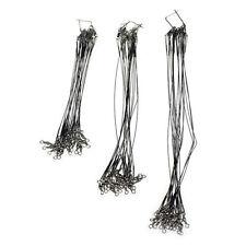 Fishing Line 60pcs Stainless Steel Wire Leader 15/23/30cm Line Black M6v5 9x