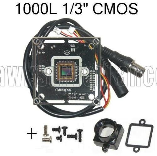 "HD1000TVL CCTV Color Camera Board 1//3/"" Inch CMOS with Infared"