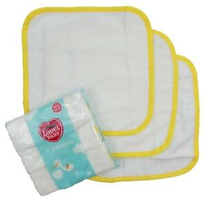 Baby-Franela-Algodon-Panos-De-Bano-De-Tres-Pack-lavado-Lavable-Toallitas-25-Cm-por-25-Cm